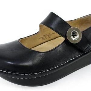 Shoes - Alegria Paloma Black Leather Mary Janes Sz 37/6